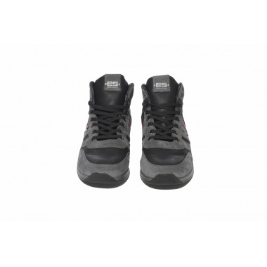 SNL18 LEATHER COMBINATION HI-TOP SNEAKERS