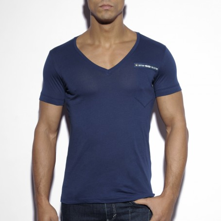 TS120 MILITARY STYLE V-NECK T-SHIRT