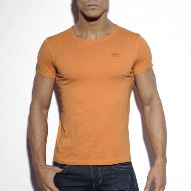 TS142 EMBRODERY ROUND NECK T-SHIRT