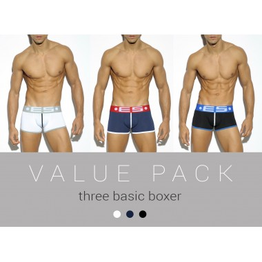 UN152P THREE PACK BASIC BOXER