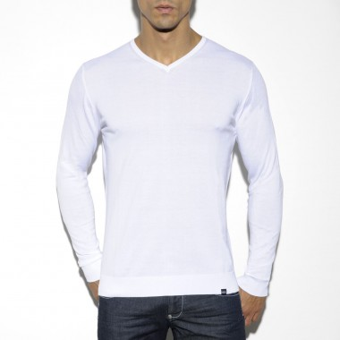 SWT011 COTTON COLOR V-NECK SWEATER