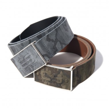 AC075 CAMO LEATHER BELT