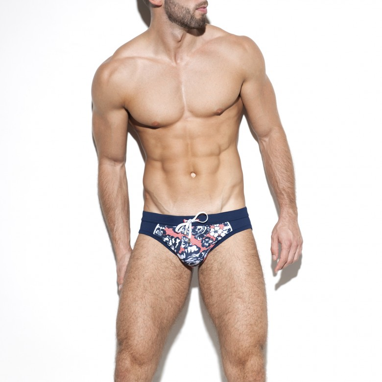 1923 FLOWERY SAILOR SWIM BRIEF