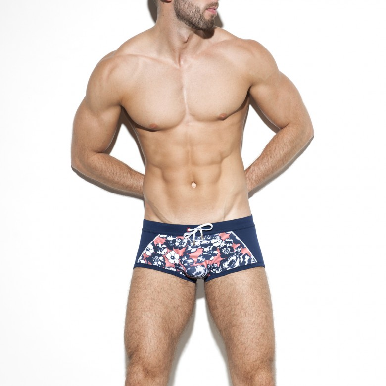 1924 FLOWERY SAILOR SWIM BOXER