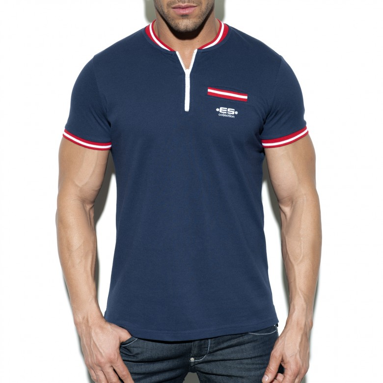 POLO31 SHORT ZIP MAO POLO