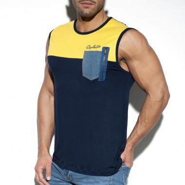 TS248 POCKET JEANS TANK TOP
