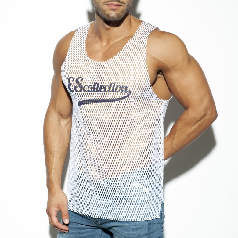 TS255 OPEN MESH TANK TOP