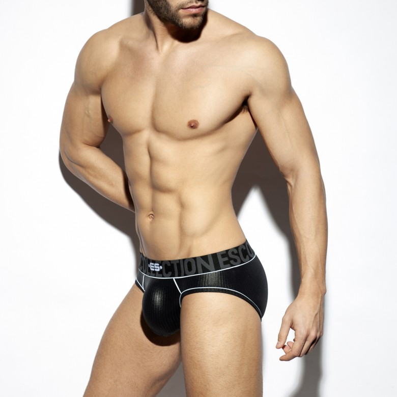 UN424 SHINY RIB BRIEF