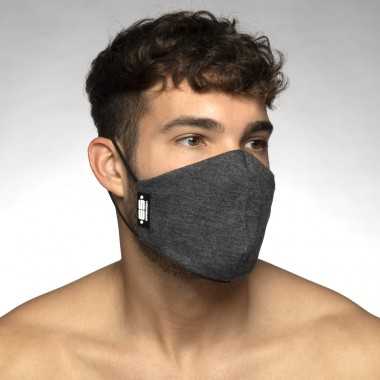 AC129 PLAIN CHARCOAL FACE MASK