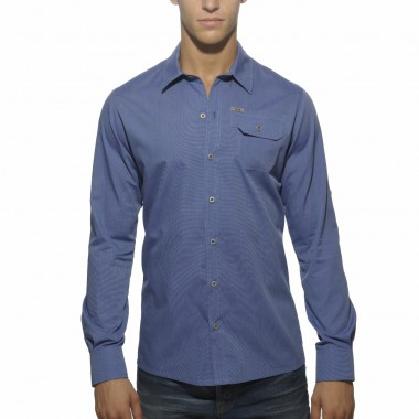 SHT006 FITTED SHIRT WITH MILITARY POCKET
