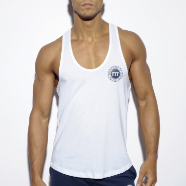 TS171BASIC NEVER BACK DOWN TANK TOP