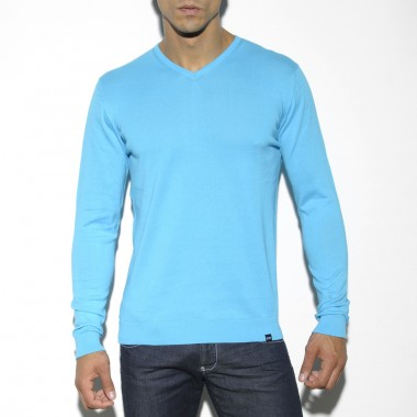 SWT11 COTTON COLOR V-NECK SWEATER