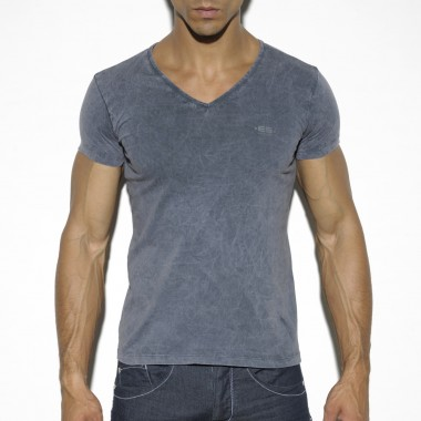 TS197 BASIC DYE V-NECK T-SHIRT
