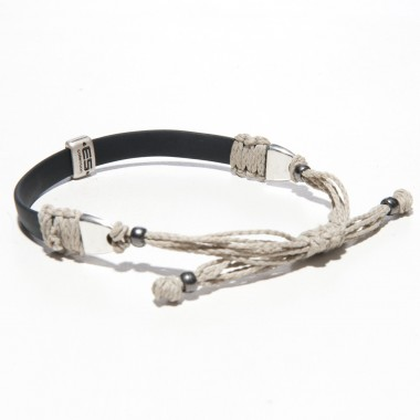 AC58 LEATHER & THREAD BRACELET