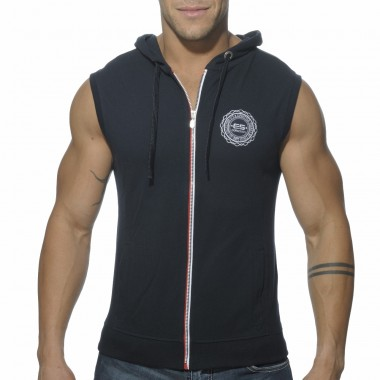 SP049 PIQUE HOODY WITH FULL ZIP