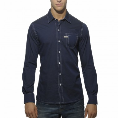 SHT005 FITTED SHIRT WITH CONTRAST ELBOW INSERTS