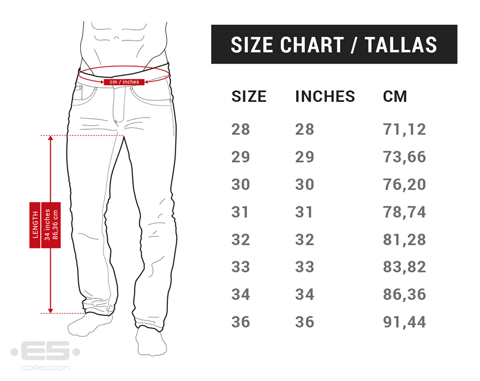 Trousers Sizechart